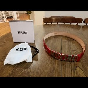 Accessories - New Moschino Logo Leather Belt
